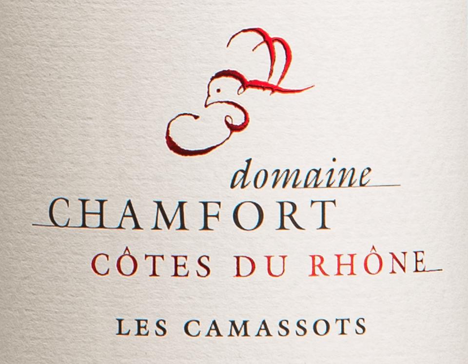 Cuvée Côte du Rhône Les Camassots Domaine Chamfort